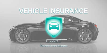 damage: Vehicle Insurance Accident Damage Protection Concept Stock Photo