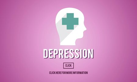 be ill: Depression Downturn Decline Recession Sadness Concept Stock Photo