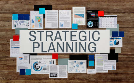 planificacion estrategica: Strategic Planning Management Organization Concept Foto de archivo