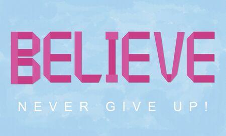 creer: La convicción crea creencia mentalidad Fe Espiritualidad Concept Foto de archivo