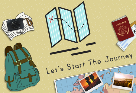 Illustrations with traveling concept
