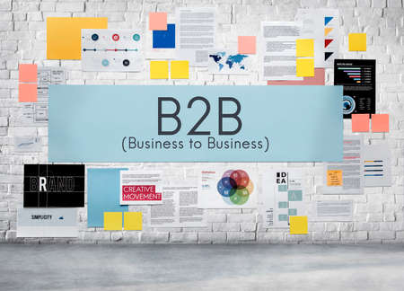 b2b: B2B Business to Business Transaction Connection Exchange Concept