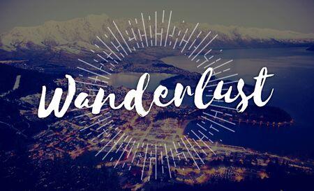wanderlust: Wanderlust Adventure Camping Explore Journey Concept Stock Photo