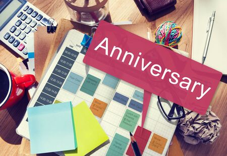 medium group of object: Anniversary Annual Celebration Remember Yearly Concept Stock Photo