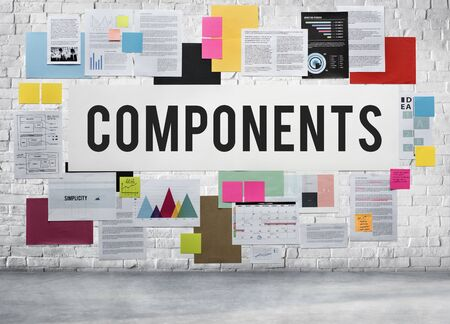 componentes: Components Hardware Laboratory Pattern Part Concept Foto de archivo