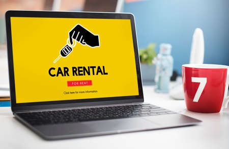 rental: Car Rental Vehicle Transportation Service Concept Stock Photo