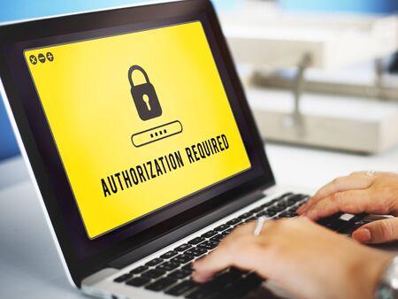 Authorization Privacy Permit Requirement Secure Concept Reklamní fotografie