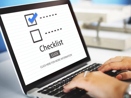 browse: Checklist Choice Decision Document Mark Concept Stock Photo