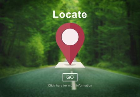 Locate Location Direction Navigation Position Trip Concept