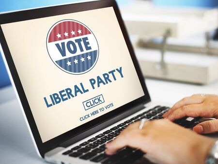 humanistic: Liberal Party Election Vote Democracy Concept Stock Photo