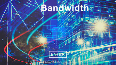 bandwidth: Connection Data Bandwidth Network Technology Concept