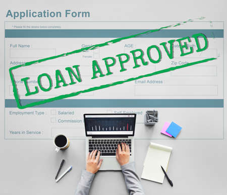 accepted: Loan Approved Accepted Application Form Concept Stock Photo