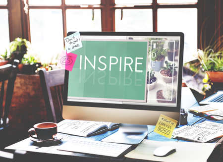 inspire: Inspire Aspiration Expectation Imagination Concept Stock Photo