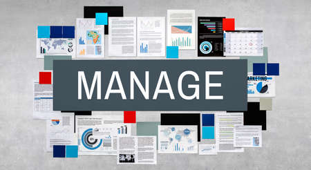 business roles: Manage Controlling Mentor Organization Concept