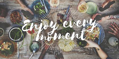 Disfrutar de cada momento de satisfacción del placer Hanppiness Placer Concept