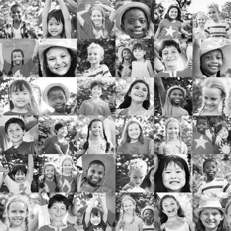 playful: Children Friendship Playful Togetherness Happiness Concept