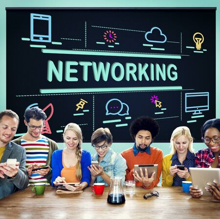 diversity domain: Networking System Social Network Connection Concept Stock Photo