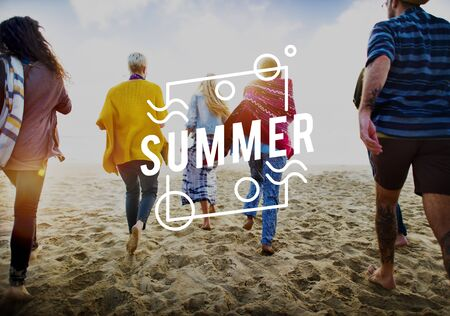 Summer Season Hot Heat Outdoors Graphic Concept
