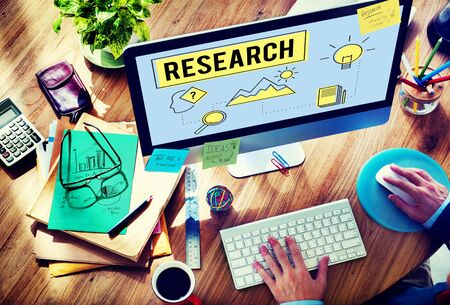 experimentation: Research Searching Search Study Researcher Concept