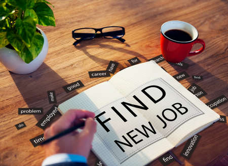 FInd New Job Applicant Hiring Employment Concept Reklamní fotografie