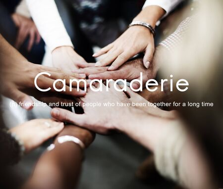 carefree: Camaraderie Carefree Chill Friends Togetherness Concept Stock Photo