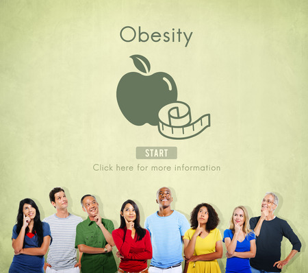 unhealthy thoughts: Obesity Diet Eating Disorder Unhealthy Diabetes Fat Concept