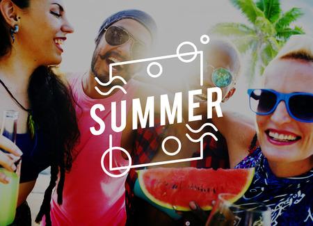 Summer Season Hot Heat Outdoors Graphic Concept