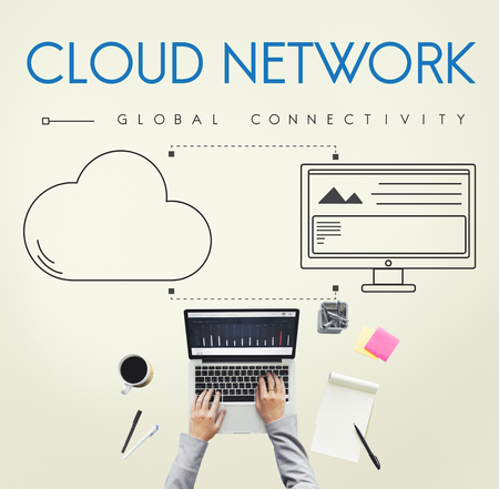 cloud network: Cloud Network Global Connectivity Share Concept