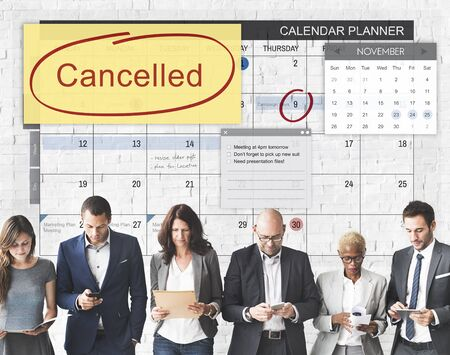 ignore: Cancelled Appointment Planner Ignore Concept