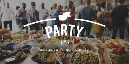 cuisine entertainment: Party Celebrate Enjoy Entertainment Festival Concept