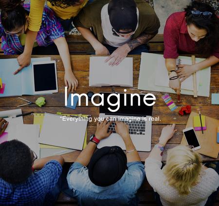 Imagine Imagination Ideas Creative Think Concept Imagens