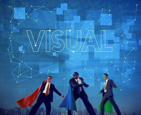 visualise: Visual Innovation Creative Thinking Visibility Concept Stock Photo