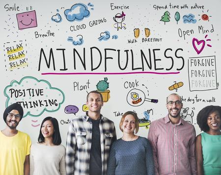 Relax Mindfulness Optimism Harmonie-Konzept