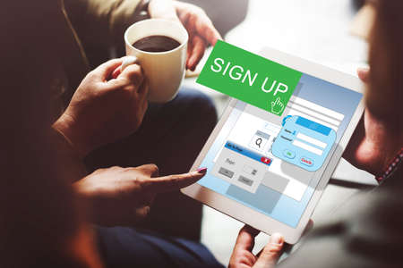 signup: Sign-In Sign-Up Join Registry Membership Concept