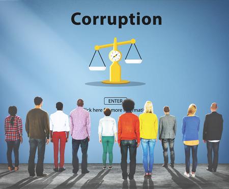 remuneration: Corruption Bribe Cheat Illegal Money Finance Concept