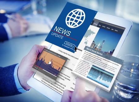 Nouvelles Mise à jour journalisme Headline Media Concept