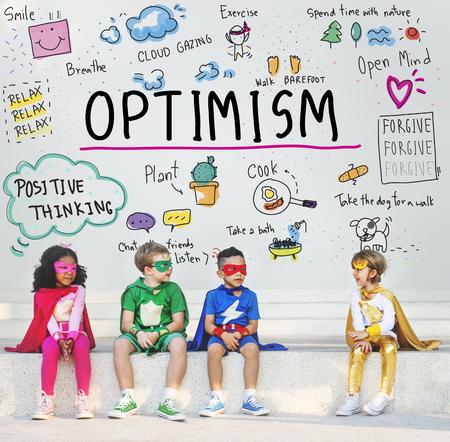 Pensiero positivo Simple Life Concept grafico