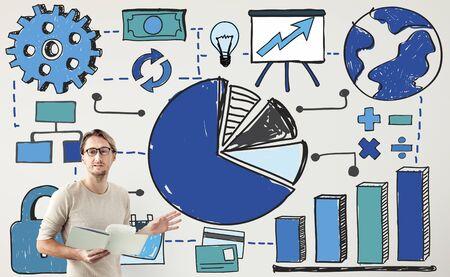 Chartanalyse Financial Accounting-Konzept