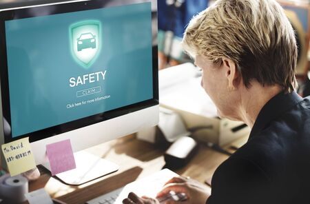 company secrets: Safety Privacy Policy Protection Shield Private Concept