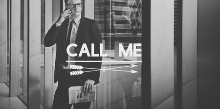 call me: Call Me Communication Connection Help Concept Stock Photo