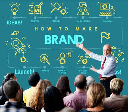 logo marketing: Brand Branding Copyright Label Logo Marketing Concept