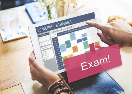 recordar: Examen de la Lista de Planificación Educación Recuerde Concept