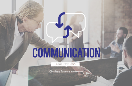 People at work with communication concept 写真素材
