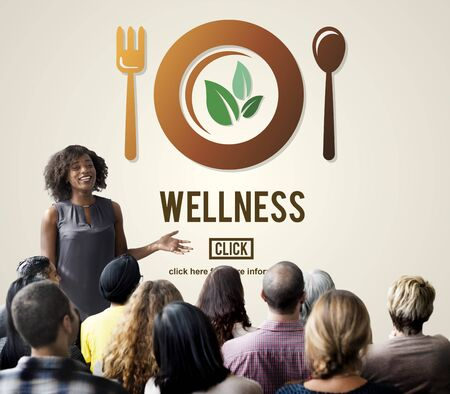 eat healthy: Wellness Wellbeing Health Healthi Lifestyle Concept Stock Photo