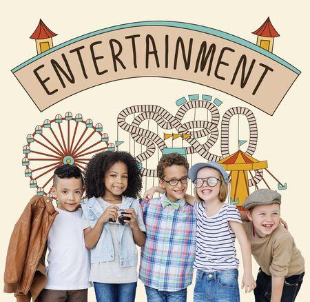act: Entertainment Charm Enjoyment Thinking Act Concept