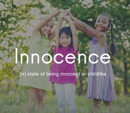 the innocence: Innocence Naive Innocent Kids Childish Concept Stock Photo
