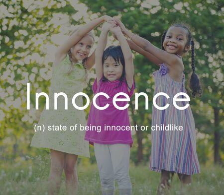 innocent: Innocence Naive Innocent Kids Childish Concept Stock Photo