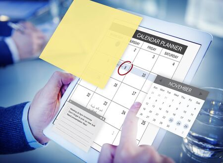 schedulers: Schedule Planner Task Agenda Checklist Concept Stock Photo
