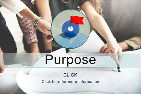 Goals Aim Purpose Mission Target Concept Stock Photo