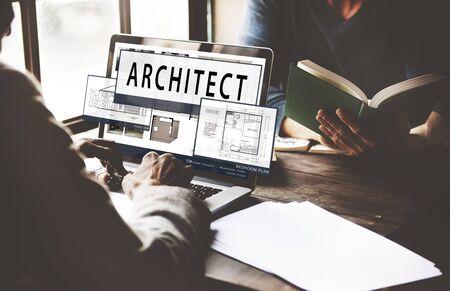 floor plan: Architect Architecture Housing Floor Plan Concept Stock Photo